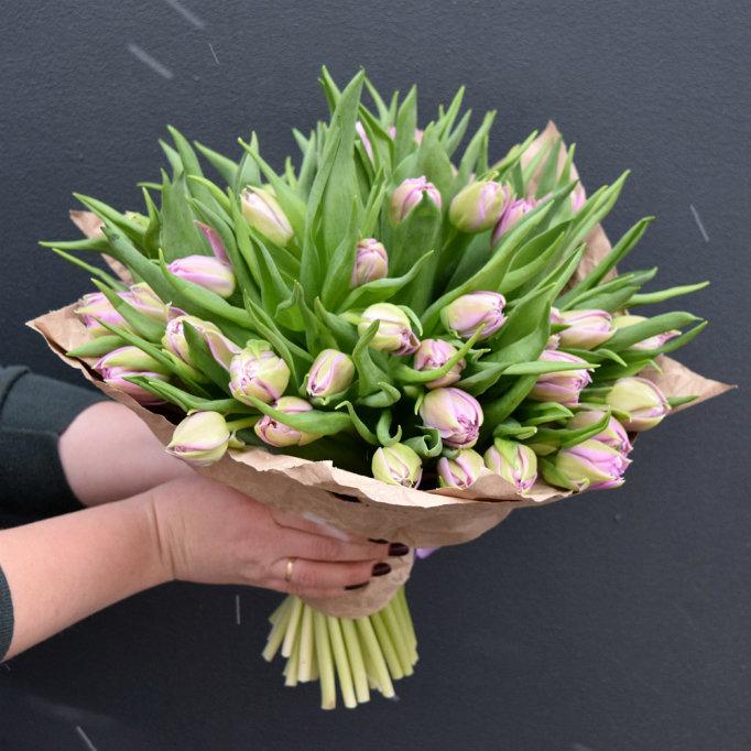 Брассикой фото, заказать букет тюльпанов 500 рублей